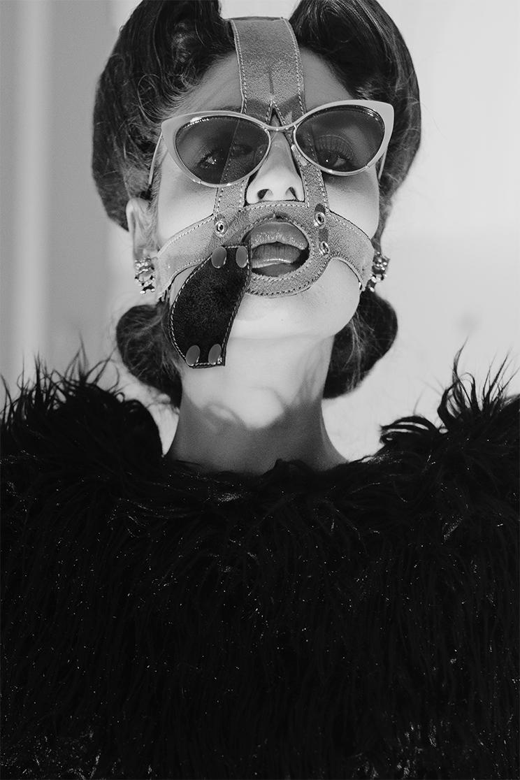 """Well, Blake…"" Photo & Fashion #FilepMotwary Hair #Maro MakeUp #ElenaTsangaridou Assisted by #KikiPatsalis Model #KaterinaTtakka Thankyou #Kristo , Afrodite & Andria N. Leather studded bracelets by Herve L.Leroux, vintage tights by Yves Saint Laurent."