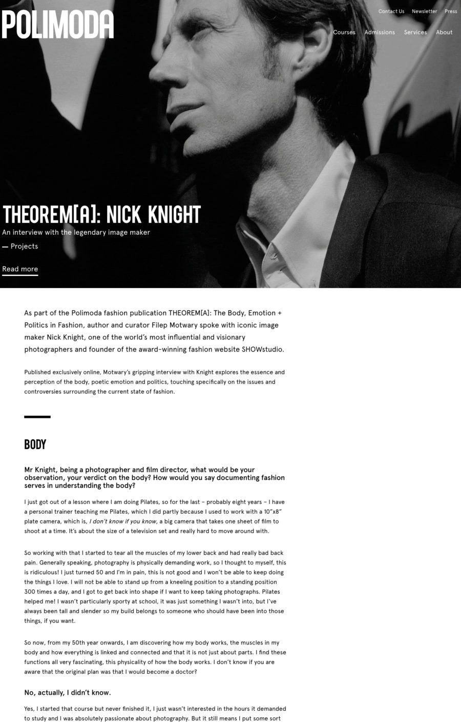 FILEP MOTWARY NICK KNIGHT THEOREMA INTERVIEW POLIMODA 2018