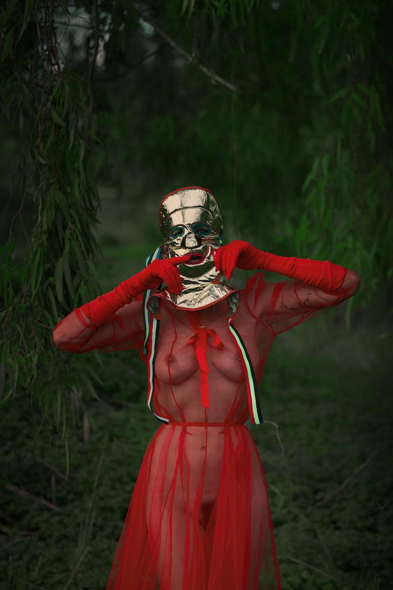 Costume, mask and photography by Filep Motwary Model Gina F. Assisted by Kiki Patsali
